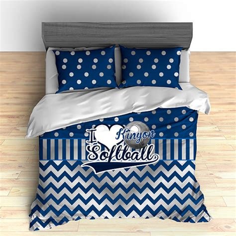 personalized softball bedding softball comforter softball