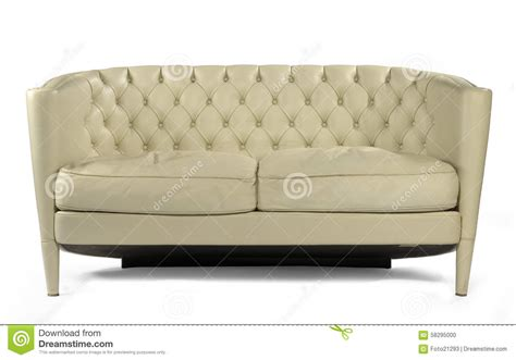 white vintage couch antique retro sofa couch cream leather isolated on white