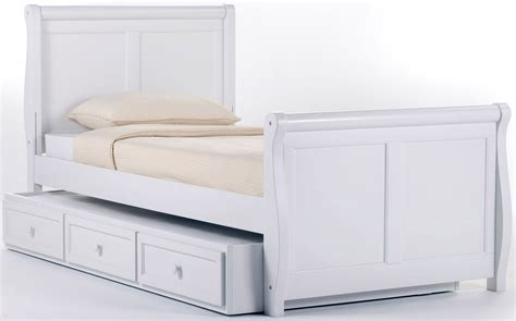 white twin bed with trundle school house white twin sleigh bed with trundle 7050nt
