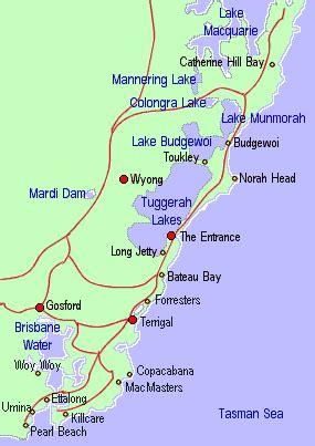 central coast australia map australia map nsw coast
