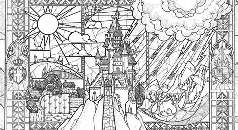beauty and the beast window coloring page beauty and the beast adult coloring pages this fairy