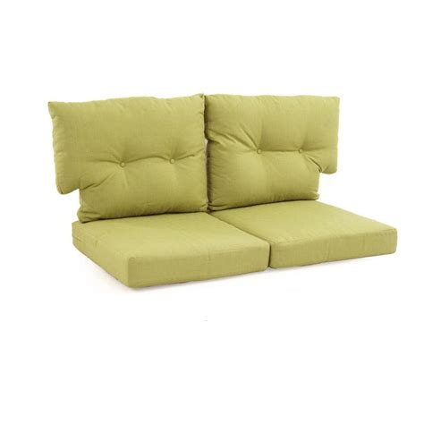 outdoor loveseat cushions martha stewart living charlottetown green bean replacement
