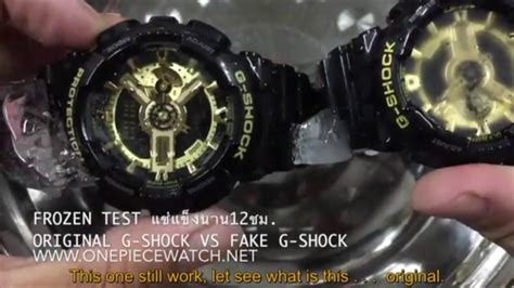 G Original original g shock vs aaa g shock drop test and frozen