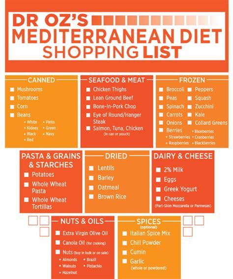 printable grocery list for seniors printable mediterranean diet food list best diet