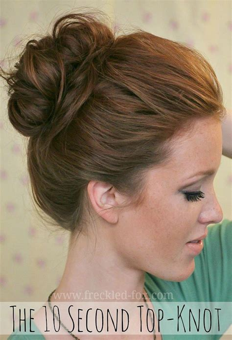 how to do knot hairstyles the freckled fox the basics hair week tutorial 4 the