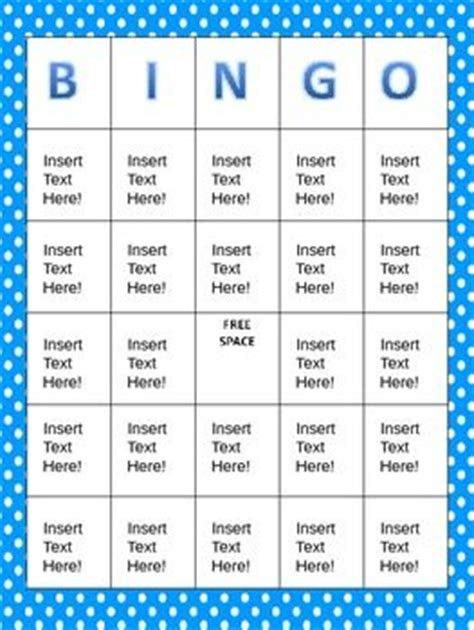 6 x 6 bingo card template editable blank bingo cards