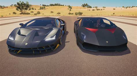 Lamborghini Elemento by Lamborghini Sesto Elemento Vs Lamborghini Centenario Drag