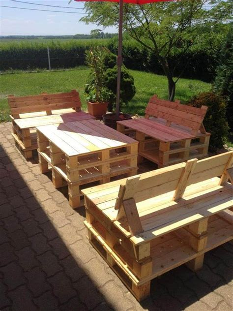 pallet patio furniture ideas patio furniture set made from pallets