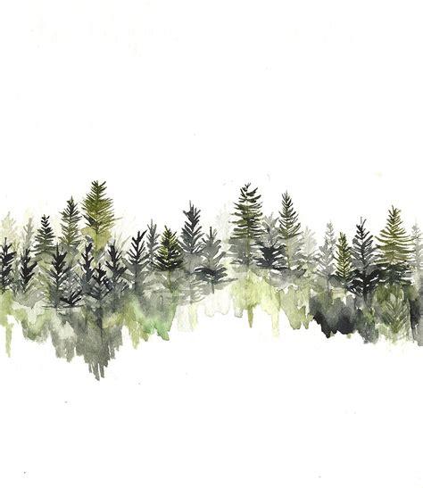 tree line tattoo tree line hi by rachael watercolor treeline