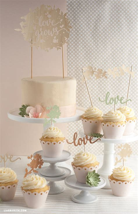 simple wedding cakes to make at home diy wedding cake and cupcake topper lia griffith