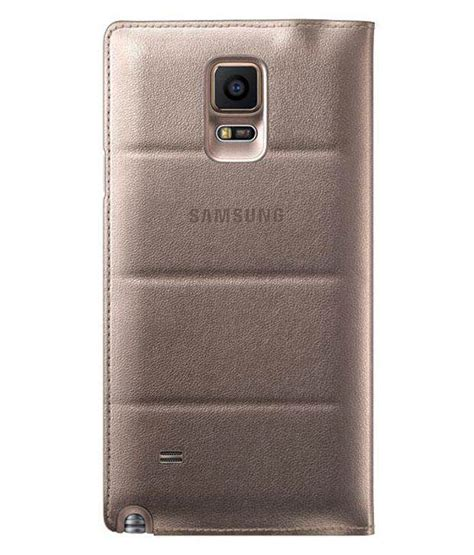 Flip Cover View Samsung V samsung galaxy note 4 flip cover by samsung golden