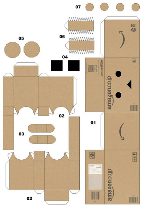 printable paper robot template paper toy papertoy danbo template preview le robot en
