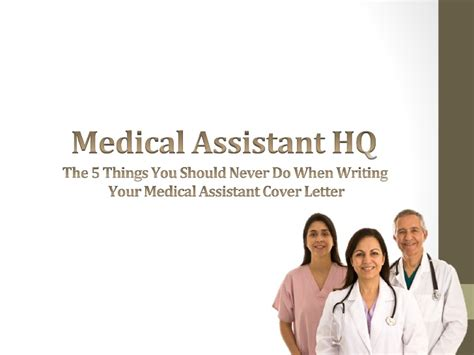 the 5 things you should never do when writing your medical