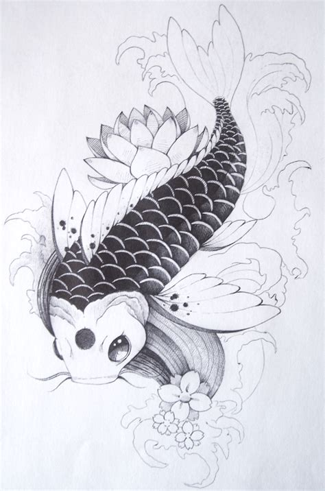 Drawing Koi Fish by Koi Fish By Hundurr On Deviantart