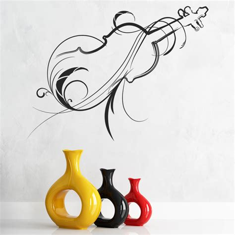 home decor stickers wall decorative violin wall sticker musical instruments wall