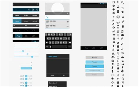 40 Free Gui Templates For Android And Iphone Creativecrunk Sketch Ui Templates