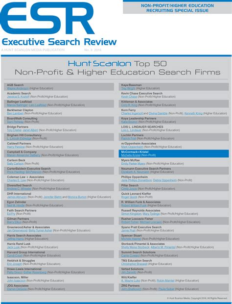Nonprofit Search Executive Search Review Names Mccormack Kristel In Top 50 Non Profit Search Firms