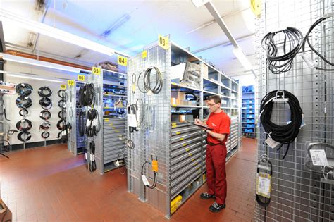 layout gudang spare part locator storage system computer optimised fixed location