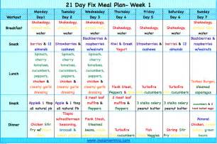the 21 day fix nutrition plan and week 1 information