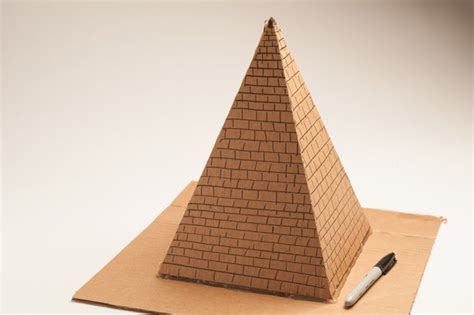 How Do You Make A 3d Pyramid Out Of Paper - how to build a pyramid for a school project with pictures