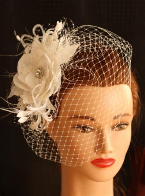 Wedding Hair Accessories Birdcage by Ivory Wedding Birdcage Veil Bridal Hair Flower Wedding