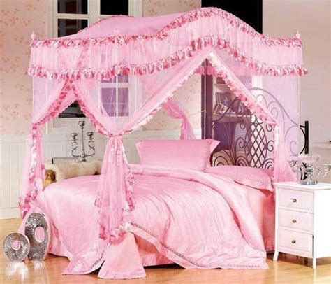 Pink Princess Girls Twin Canopy Bed Suntzu King Bed Princess Canopy Beds For