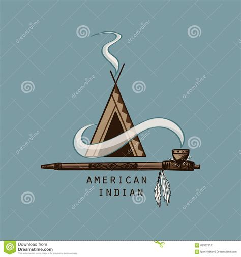 The Greatest American Emblem American Indian Emblems And Labels Vector Illustration Cartoondealer 62362312