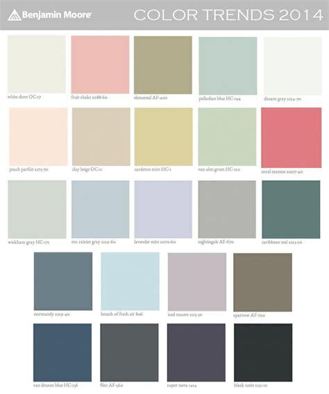 benjamin color palettes benjamin color trends 2014 palette housetastic