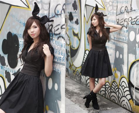 kristina mirasol dawn p forever 21 bunny hairband forever 21 bustier