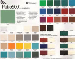 awning paint color charts aaa awning co inc