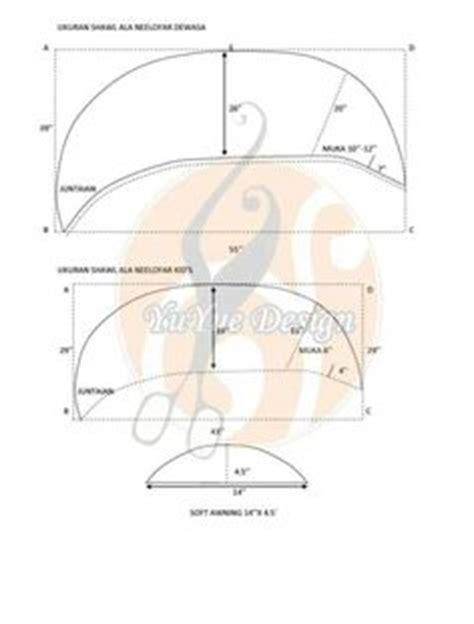 Khimar Chiffon Syari Semi Instan 2 Layer 8 cara menjahit tudung 3 layer panduan menjahit