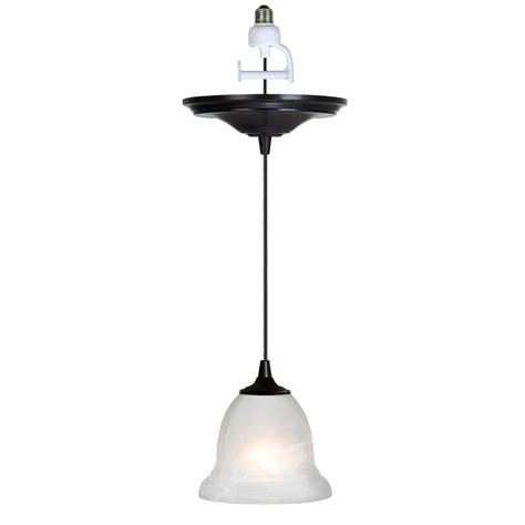 Pendant Light Kits Shop Portfolio Antique Bronze Recessed To Pendant Light Conversion Kit At Lowes