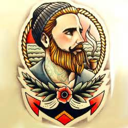 nautical sailor tattoo design