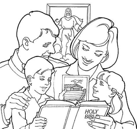 coloring page of a family praying amor em ensinar plantando a boa semente desenho para