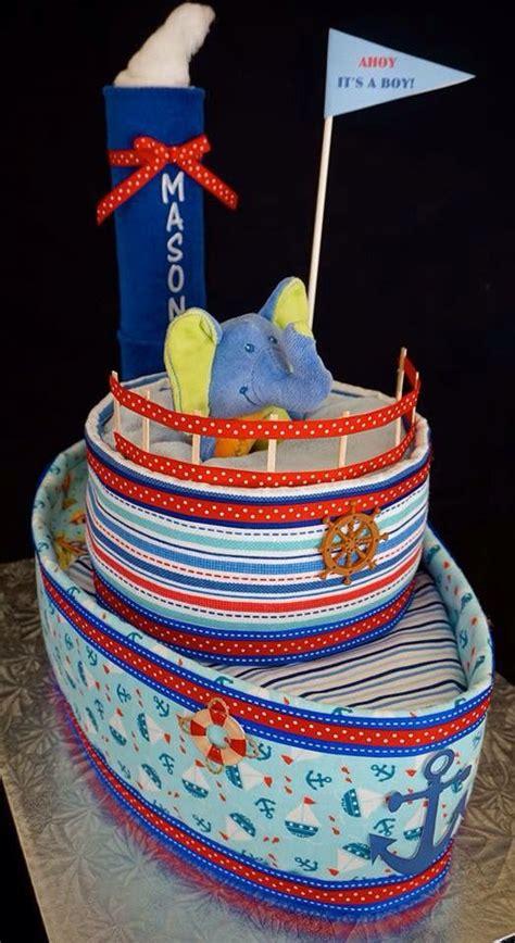 tugboat cake tug boat diaper cake www facebook diapercakesbydiana