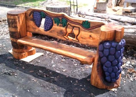 chainsaw benches benches tables chairs christman s chainsaw carvings