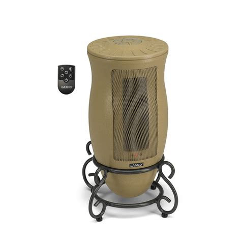 room heaters electric shop lasko 5 115 btu ceramic tower electric space heater with thermostat at lowes