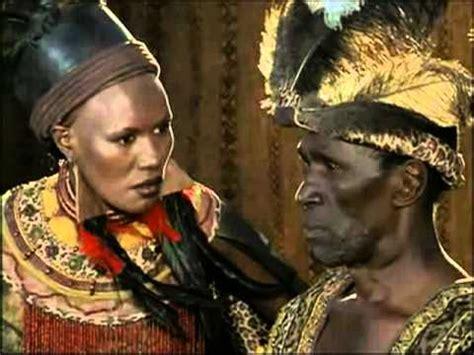 henry zulu grace jones in shaka zulu the last great warrior youtube