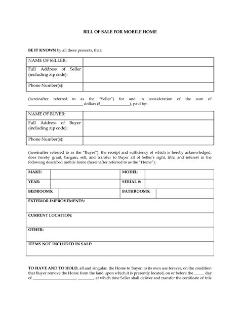 pa boat registration letter size bill manufactured home bill of sale form
