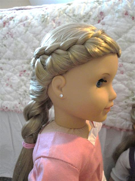 hairstyles for american girl dolls with long hair american girl doll chronicles beautiful french braid
