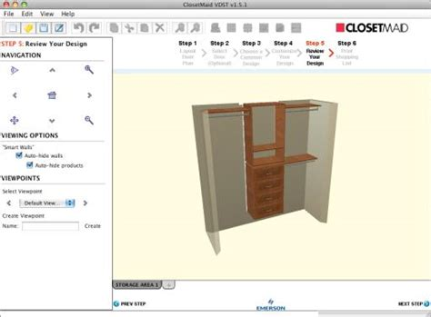 Closetmaid Design Tool closetmaid
