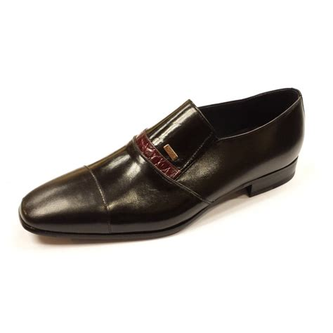 black leather slip on shoes za3984 black leather slip on shoe