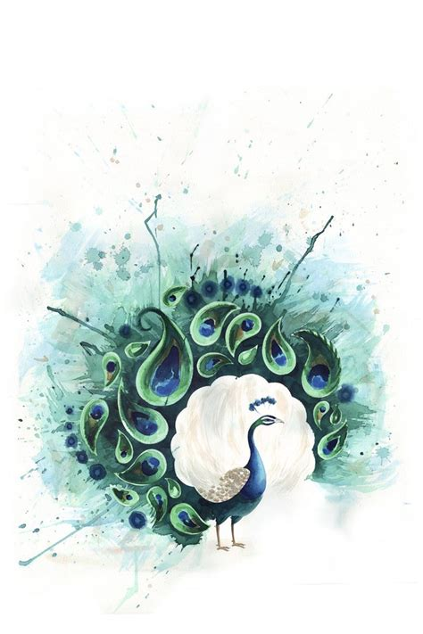 watercolor peacock tattoo 7 best peacock birds of a feather images on