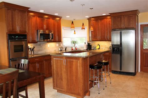 kraft maid kitchen cabinets kraftmaid cabinets northfield cherry sunset