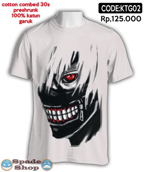 Kaos Anime The Three jual kaos anime thsirt anime kaneki tokyo ghoul distro