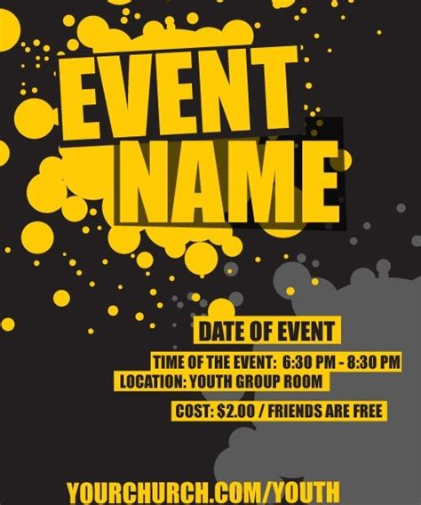 Event Template Youth Pinterest Shops Flyers And Event Flyers Youth Flyer Template Free