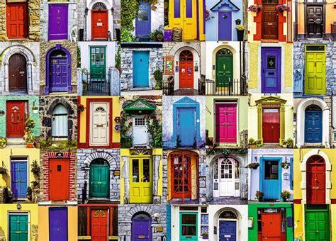 colorful doors jigsaw puzzle puzzlewarehouse com doors of the world jigsaw puzzle puzzlewarehouse com