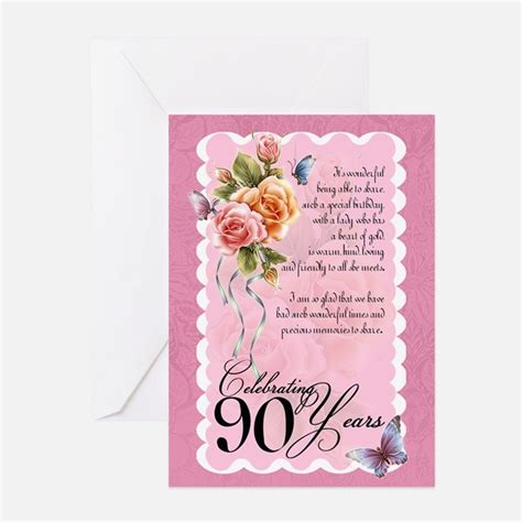 Birthday Card For 90 Year 90 Year Old Birthday Greeting Cards Card Ideas Sayings