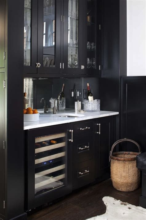 black butlers pantry transitional dining room