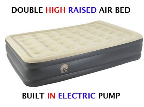 Up Mattress With by High Pillow Raised Flocked Air Bed